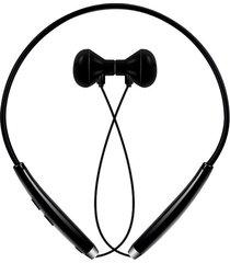 audífonos bluetooth manos llibres inalámbricos, fm-500 inalámbrico audifonos bluetooth manos libres  manos libres de mando magnético de deporte de auriculares (plata negro)