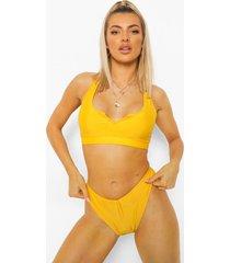 essentials korte bikini top met inkeping, orange