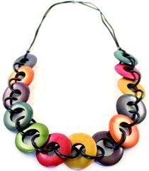 collar largo circulos multicolor almacen de paris