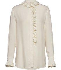 jade shirt 7879 blouse lange mouwen crème samsøe samsøe