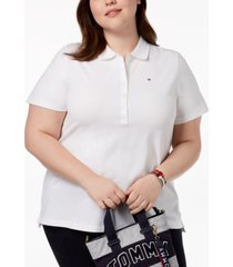 tommy hilfiger plus size pique polo shirt, created for macy's