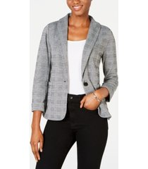 maison jules plaid blazer, created for macy's