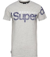 core split logo tee t-shirts short-sleeved grå superdry