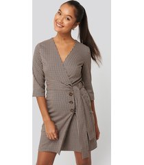 mango mila dress - brown,beige,multicolor