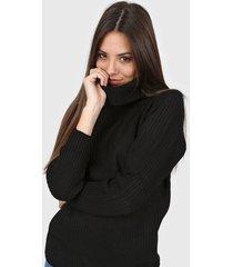 sweater negro moni tricot liso