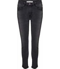 high waist stretch jeans julia  zwart