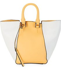 jordan colorblock leather convertible bucket bag