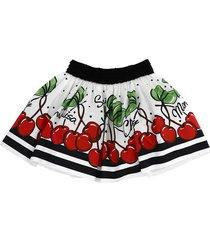 monnalisa cherries print skirt