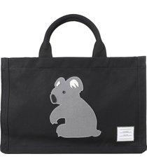 thom browne black koala shopper