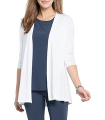 women's nic+zoe eaze cardigan, size small - white