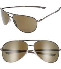 smith serpico slim 2.0 65mm chromapop(tm) polarized aviator sunglasses in gunmetal/grey polar at nordstrom