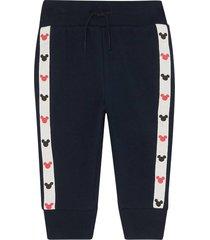 pantalón azul-blanco-rojo gap