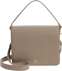 dagne dover epic coated canvas crossbody bag - grey