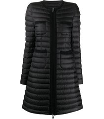 moncler flared padded jacket - black