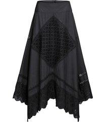 kjol med flikig nederkant