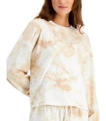 bar iii tie-dyed pullover sweatshirt, created for macy's