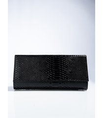 akira penthouse suite patent leather snake clutch