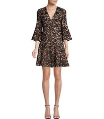 bell-sleeve lace dress