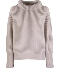brunello cucinelli high neck sweater cashmere english rib sweater with shiny shoulder bands