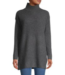 high neck cashmere tunic