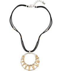 robert lee morris soho geometric wrapped pendant necklace