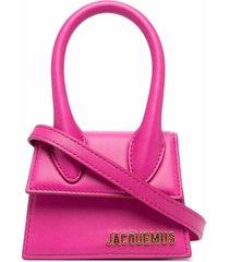 jacquemus mini le chiquito leather tote bag
