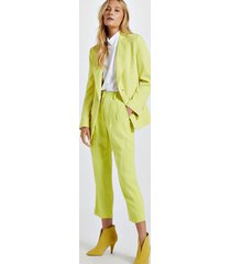 blazer de alfaiataria amarelo com botões de argola amarelo neon - 40