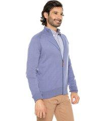 sweater azul 8 preppy m/l dos colores c/alto cremallera