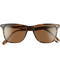oliver peoples ollis 54mm square sunglasses in cocobolo/brown at nordstrom