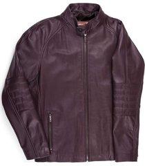 chaqueta en 100% cuero cuello alto slim fit para hombre 97780
