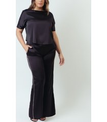 silulated silk dolman sleeve pajama set