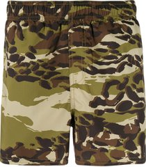 givenchy camouflage printed swim shorts - green