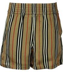 burberry marsett - icon stripe silk shorts