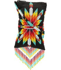 jessie western beaded embroidery crossbody bag - black