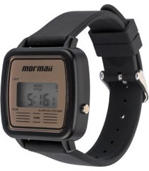 relógio digital mormaii mojh02av - masculino - preto/bege