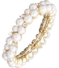 anne klein pearl cluster stretch bracelet