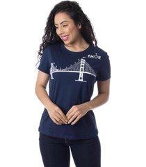 camiseta resiste ao amor thiago brado 6027000002 marinho - marinho - pp - feminino