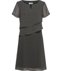 dress woven fabric jurk knielengte zwart gerry weber