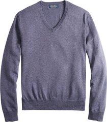 sweater supima cotton v-neck morado brooks brothers