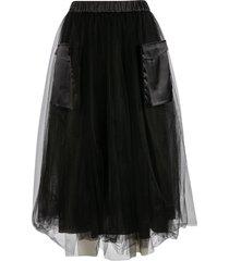 fabiana filippi side pocket detail ribbed waist skirt