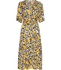 irinagz long dress ao19 knälång klänning multi/mönstrad gestuz