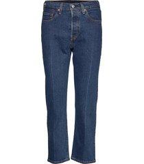 501 crop charleston pressed raka jeans blå levi´s women