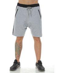 pantaloneta tipo jogger,  color gris jasped  para hombre