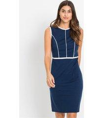 jersey jurk met contrasterende paspels