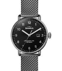 men's shinola the canfield mesh bracelet watch, 43mm