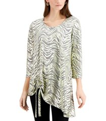 jm collection space-dyed knit top, created for macy's