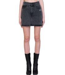 off-white mini skirt skirt in black denim