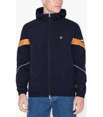 lyle & scott printed track top jackor dark navy