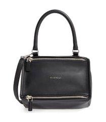 givenchy small pandora leather satchel - black