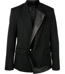 balmain classic tailored blazer - black